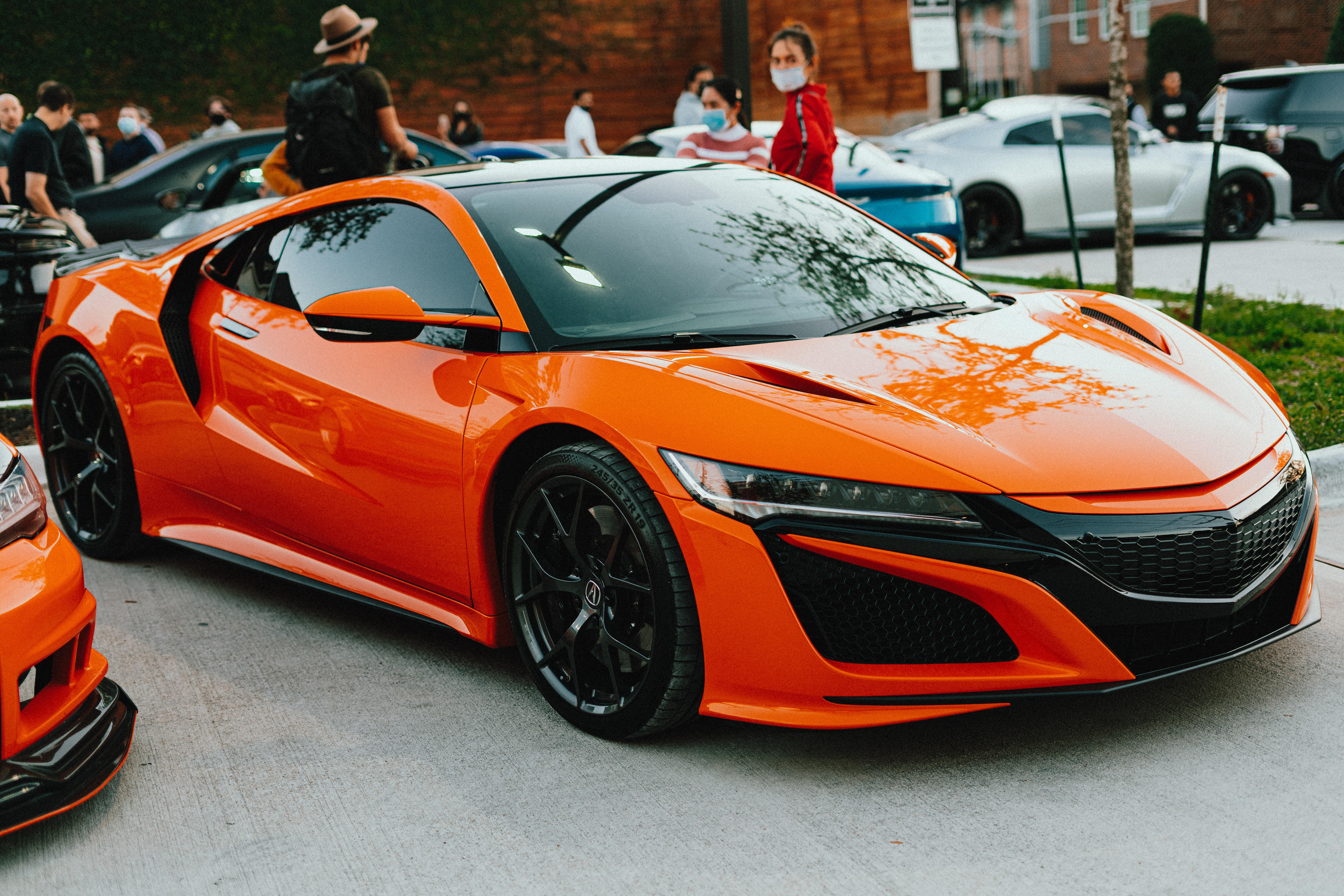 Image of orange Acura
