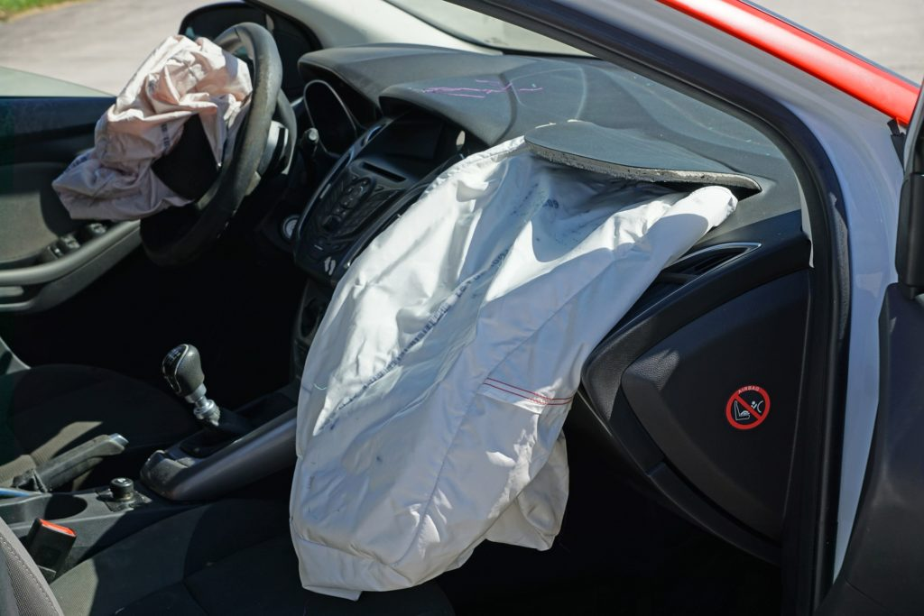 Image of deployed air bag